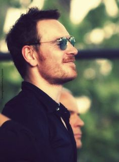 Fassy having a good time on the set of 'Song to Song' in Austin and Mexico