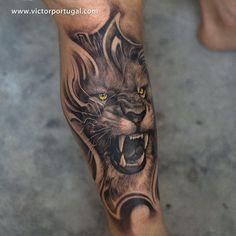 León #tattooistartmag #tattooculturemagazine #darktimesmachines @alphaneedlebars #tattoo #blackandgrey #tatuaje #tatuaz #krakow #weekend #holiday #:)