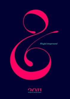 #Playful #Ampersand. #Moshik Nadav #Typography.        #ampersands #experimental #typography #typo #font #fonts #type #fashion #sleek #deep #hues #graphic #art #pink #navy