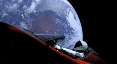 ElonMusk made history launching a car into space. Did he make art too?