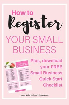 How to register your small business! Don't miss this step when you are first starting. A new business involves lots of steps, this one is important! #smallbusiness #business