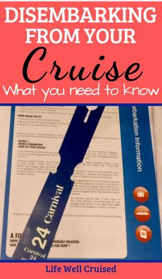 Everything you want and need to know about your cruise debarkation on the last day of your cruise. You'll want to know how it works and what to prepare for, so you don't make any common cruiser mistakes. #cruisedebarkation #cruisedisebarkation #cruisevacation #cruisetips #cruise #cruiselastday