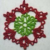 Crocheted Christmas Ornament~~  Carol idea?