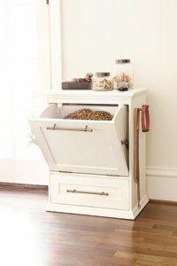 Stylish storage for pet food. Make your Doanld Gardner home plan pet friendly! http://www.dongardner.com/