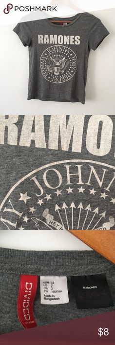 🚫SOLD🚫 Really soft ramones tee in gray (bundled for jnatalie) H&M Tops Tees - Short Sleeve
