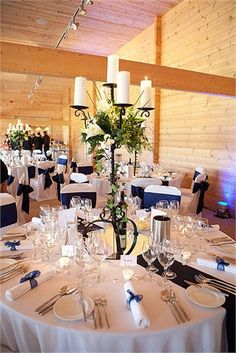 Room decoration in blue from Top Table Weddings - Top Table Weddings
