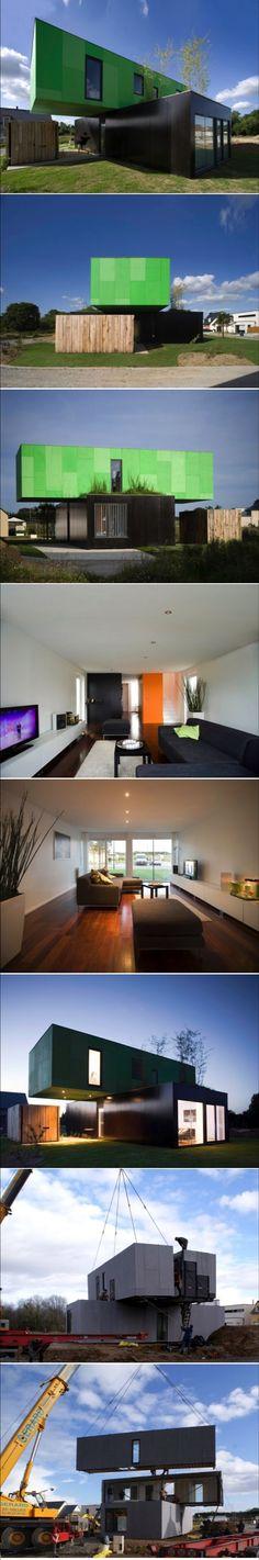 Eco-Friendly Crossbox House by CG Architectes | HomeDSGN