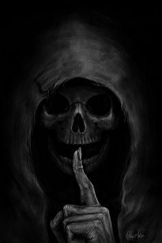 Cyber max - whitechapelwitch: >>x<< deviantart dark, horror pictures, Grim Reaper Art, Grim Reaper Tattoo, Don't Fear The Reaper, Demon Tattoo, Grim Reaper Images, Arte Horror, Horror Art, Dark Fantasy Art, Skull Tattoos