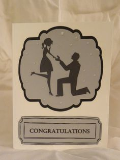 Congratulations engagement card by MyCraftyPantsDesigns on Etsy