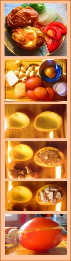 Mushrooms and Cheese Stuffed Potatoes