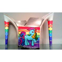 CANDY DANCER Rainbow Dash My Little Pony mlp UV responsive platform exotic dancer stripper heels 7