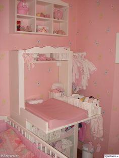 Cute Idea for IKEA Hensvik cabinet/space saving nursery