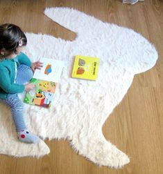 diy nosew big rabbit rug with pattern risi nyl formj