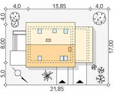 Projekt domu Jagoda 4 - usytuowanie na działce