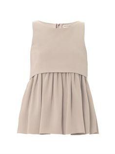 Gathered silk-crepe top | Balenciaga | MATCHESFASHION.COM