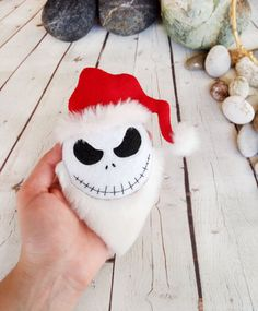 Items similar to Halloween Decor Santa Jack Skellington Nightmare Before Christmas Baby Shower Favors Felt Toys Halloween Party Decorations Halloween Props on Etsy Halloween Prop, Halloween Ornaments, Halloween Jack, Halloween Christmas, Halloween Party Decor, Halloween Gifts, Christmas Crafts, Xmas, Christmas Aprons