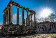 """""""The temple is believed to have been constructed around the first century A.D., in homage to Augustus who was venerated as a god during and after his rule.The temple was built in the main public square (forum) of Évora, then called Liberatias Iulia. During the 2nd and 3rd centuries, from the traditionally accepted chronology, the temple was part of a radical redefinition of the urban city, when the religious veneration and administrative polity was oriented around the central space: the…"""