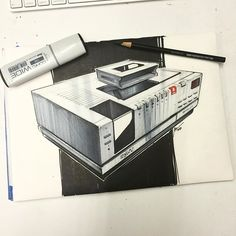 Sony just killed the Betamax player yesterday. I was surprised to see they're still being made. Never had one but definitely a throwback. #sketchaday #designsketching #idsketch #idsketching #copic #marker #betamax #sony #consumerelectronics #tech #rendering