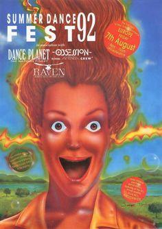 [rave flyer] Summer Dance Fest - Obsession Fantazia Raven - Junior Tomlin - 1992 | eBay