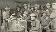 Salvation Army donut girl with U.S. military troops.