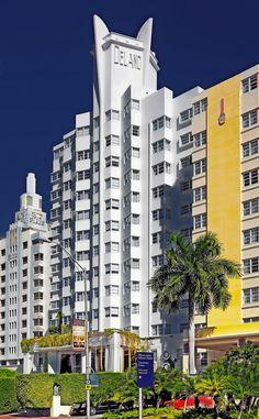 Delano Hotel, 1685 Collins Avenue, Miami Beach, Florida, U. Miami Beach Hotels, South Beach Miami, Philippe Starck, Delano Hotel, Delano Miami, Florida Images, Miami Art Deco, Downtown Miami, Art Deco Buildings