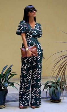 Jumpsuit <3 love the mix of colors ans the pattern on the jumpsuit itself its bold unique and elegant