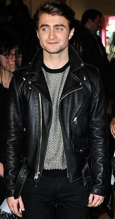 Daniel Radcliffe Herry Potter Authentic Leather Jacket  	The Daniel Radcliffe leather jacket is just the thing to help his fans incorporate the look of their favorite actor into their own style. Radcliffe is the actor most well known for playing the part of the highly popular character Harry Po