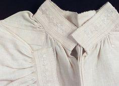 DigitaltMuseum - rekonstruksjon av Vestfoldbunad - skjorte Hardanger Embroidery, Folklore, Norway, Scandinavian, Ruffle Blouse, Spaces, Inspiration, Tops, Women