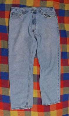 Levis 505 Blue Jeans Pants Sz 36 30 Regular Fit Red Tab #Levis #RegularFit