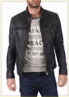 40 Best Men S Leather Jackets Images Jackets Leather Jacket
