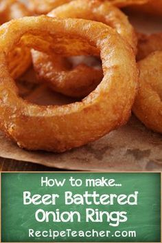 to Make Onion Rings Learn how to make Beer Battered Onion Rings with this amazing recipe.Learn how to make Beer Battered Onion Rings with this amazing recipe. Homemade Onion Rings, Baked Onion Rings, Homemade Beer, Best Onion Ring Recipe, Beer Batter Recipe, Recipe For Beer Batter Onion Rings, Onion Ring Batter, Beer Battered Onion Rings, Battered Fish