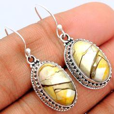 Brecciated Mookaite 925 Sterling Silver Earrings Jewelry BRME127