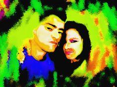 Mais Uma de minhas Artes digitais, Meu primo e sua Esposa.