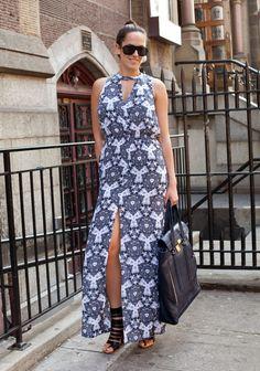 What She's WearingDress: A.L.CBag: 3.1 Phillip LimSunglasses: Own Shop SimilarDress: A.L.C Lee Dress, $896; shopbop.comBag: 3.1 Phillip Lim 'Pashli' Leather Satchel, $895; nordstrom.comSunglasses: Dries Van Noten x Linda Farrow Aviator Sunglasses, $369; lagarconne.com