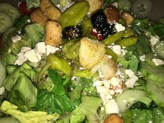 #GameDay #GreekSalad