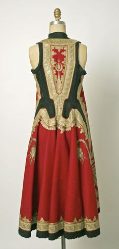 Wedding ensemble Late 19th century, Albanian, silk, cotton & metallic thread. | THE MET