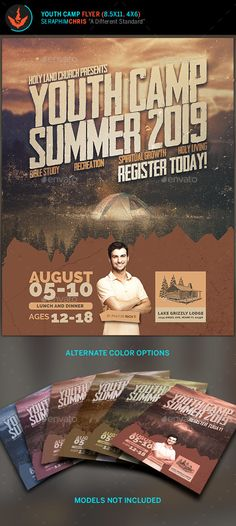 Summer youth camp flyer summer youth youth camp and youth youth camp flyer template stopboris Image collections