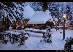 Sura Dacilor - a traditional Romanian restaurant - terrace.or was it Coliba Haiducilor? Old Time Christmas, Winter Photos, Winter Beauty, Adventure Awaits, Painting Inspiration, Winter Wonderland, Places Ive Been, Beautiful Places, Around The Worlds