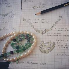 Design work :) Goldsmith Sanna Hytönen, Finland. http://www.kultaseppasannahytonen.com/