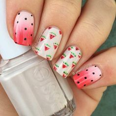 Best 9 Watermelon Nail Ideas For 2016 - styles outfits