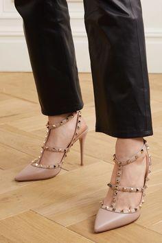 Valentino Rockstud Pumps, Valentino Studded Heels, Beige Heels, Nude Shoes, Nude Pumps, High Heel Pumps, Pumps Heels, Mr. Porter, The Row