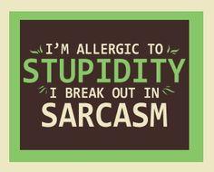 I'm allergic to