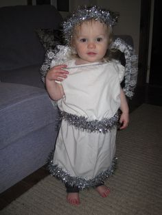 Easy sewing project nativity costume angel tulle skirt jake mummys angel nativity costume made from fitted sheet and tinsel solutioingenieria Image collections