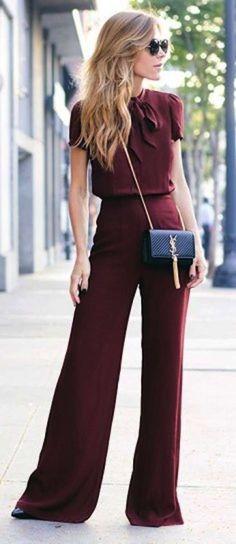 El color que marca tendencia en la moda  - look granate