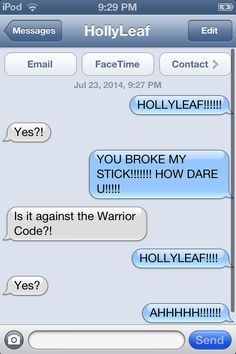 warrior cat texts - Google Search