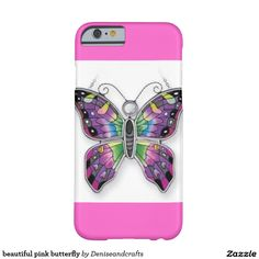 beautiful pink butterfly barely there iPhone 6 case