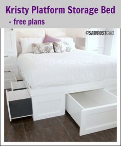 Kristy Platform Storage Bed Free Plan With Under