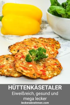 Colorful cottage cheese thalers - healthy and delicious recipe for weight loss, # weight loss . - Colorful cottage cheese thalers – healthy and delicious recipe for losing weight, weight # - Breakfast Recipes, Dinner Recipes, Breakfast Healthy, Low Carb Recipes, Healthy Recipes, Menu Dieta, Good Food, Yummy Food, Vegetarian Lifestyle