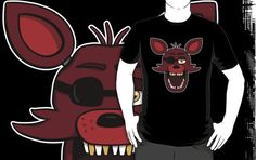 ======= Shirt for Sale ======= Foxy Head  Five Nights at Freddy's Shirt by Kaiserin. ========================= #FNAF