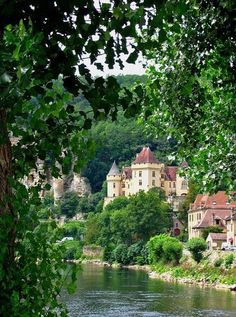 Loving this chateau - La Roque-Gageac on the Dordogne River, France~ Pat Cole